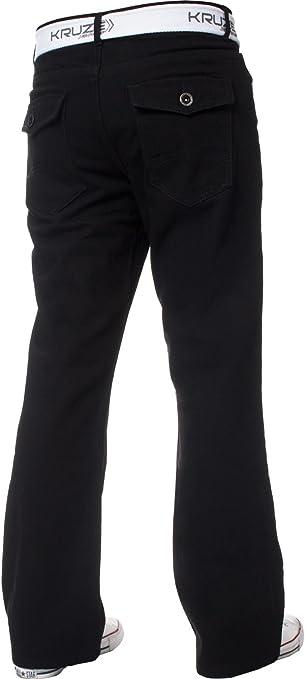 Hombre Kruze Pantalones Vaqueros Para Hombre Con Corte Para Botas Acampanados Y Anchos Todas Las Tallas De Cintura Talla Grande Y Larga Ropa Brandknewmag Com