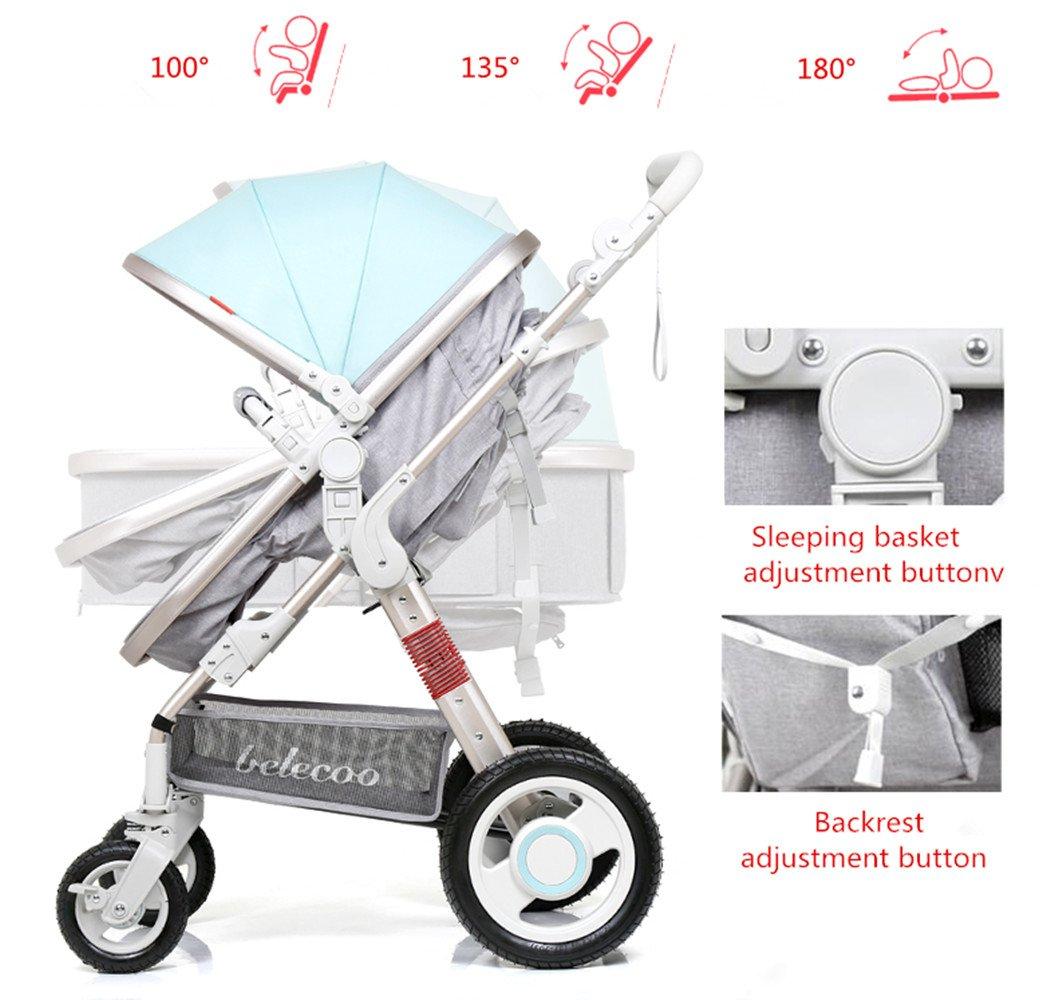 YBL - Cochecito de bebé portátil de alto paisaje con ...