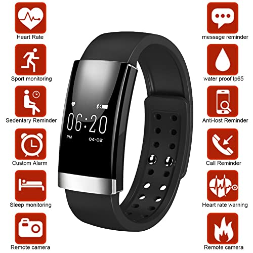 Dreamerd Fitness Tracker,Bluetooth 4.0 Fitness Wristband/Smart Bracelet/ Heart Rate Monitor/Sleep Monitor/Calorie Counter/Pedometer Sport Activity Tracker for iPhone iOS and Android Phone