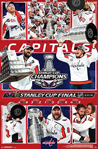 "Trends International 2018 Stanley Cup-Celebration-Washington Capitals Wall Poster, 22.375"" x 34"", Multi"