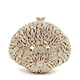 Purses for Women Luxury Rhinestone Crystal Evening Animal Clutch Bags Vintage Party (Sliver)