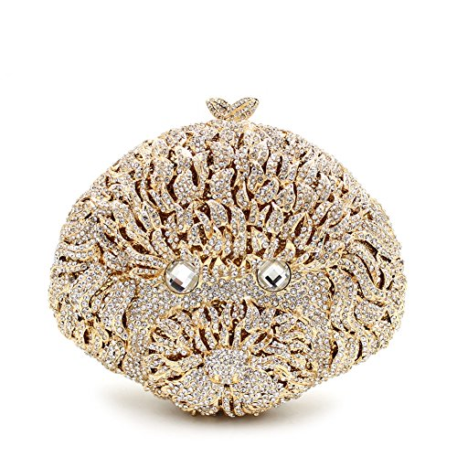 Purses for Women Luxury Rhinestone Crystal Evening Animal Clutch Bags Vintage Party (Sliver) by Weddinghelper