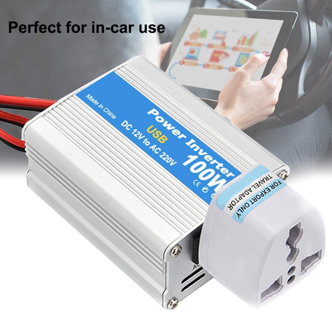Voltage Transformer with USB Ports and Oulets AWIS 100W Portable Car Power Inverter DC 12V to AC 220V Charger