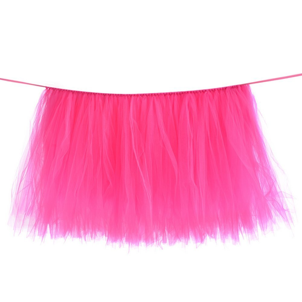 Tutu Table Skirt Tulle Table Cover for Baby Shower High Chair ...