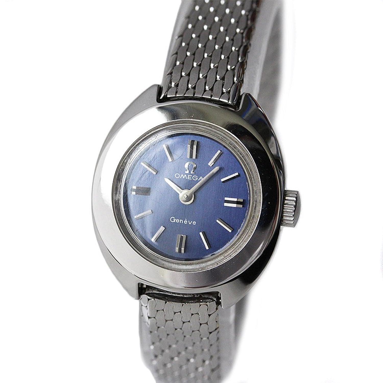 OMEGA(オメガ) ジュネーブ レディース腕時計 手巻き ウォッチ ネイビー文字盤 シルバー ステンレス アナログ 2針 オーバーホール済み (中古) [並行輸入品] B073Z595Q3