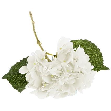 Buy chicmall individual hydrangea stems artificial silk flowers chicmall individual hydrangea stems artificial silk flowers bouquets for decorationwhite mightylinksfo