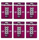 Magic Sliders 08200 Screw-On Floor Slide 3/4'' Round, Sold as 6 Pack, 48 Count Total