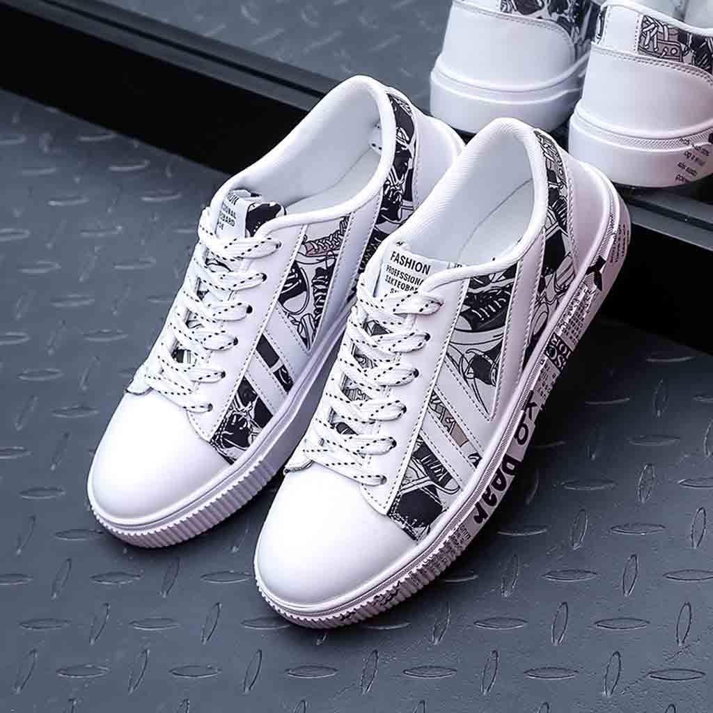 Moonuy Hommes Imprim/é Baskets Hommes Bout Rond Chaussure Running Chaussures De Randonn/ée Chaussure Casual Chaussure Respirant Chaussures Bas Chaussures Pour L/ét/é
