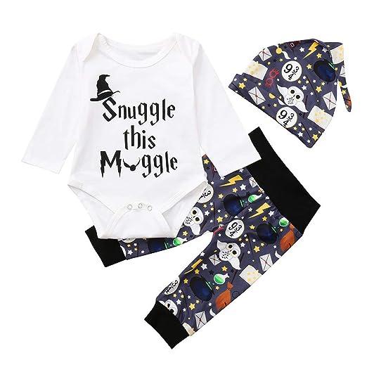 8ac5559bcc48 Amazon.com  Sharemen Baby Clothes Romper Letter Bodysuit Cartoon ...