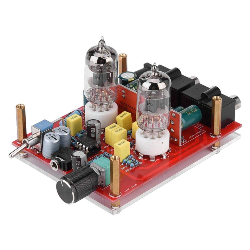 12V DIY Preamplifier Kit 6J1 Preamp Tube Board Preamplifier 3.5MM Headphone Amplifier Replacement