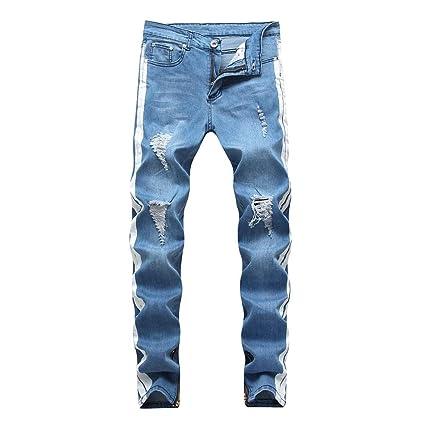 Jeans de ajuste regular de los hombres Pantalones vaqueros ...
