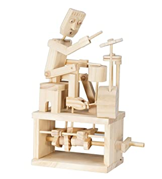 Timberkits Drummer Wooden Model Kit