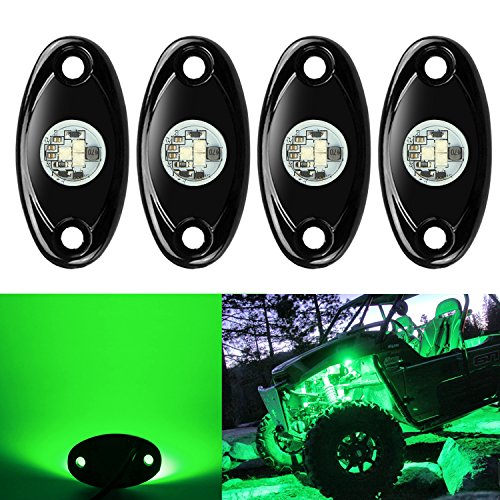 ts Kit, Ampper Waterproof Underglow LED Neon Trail Rig Lights for Car Truck ATV UTV Baja Raptor Offroad Boat Trail Rig Lamp Underbody Glow (Green) (Green Undercar Kit)