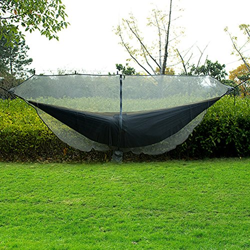 Fullyy Mosquito Net for Hammock,360 Degree Protection Side Zipper Bug Net for All Hammocks,Breathable and Easy Installation(133 55)