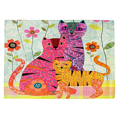 DiaNoche Kitchen Place Mats by Sascalia Cat Family