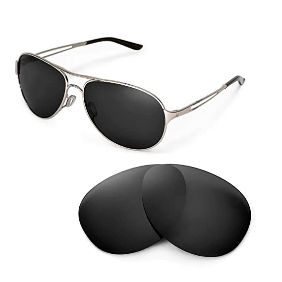 2b110a8fe20 Walleva Replacement Lenses for Oakley Caveat Sunglasses - Multiple Options  (Black - Polarized)  Amazon.co.uk  Clothing
