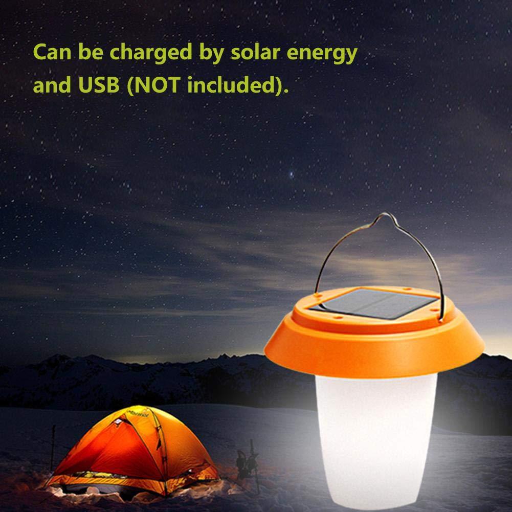 Hurrikan Camping Riuty Notfall Solar Licht USB Solar Power LED Tragbare H/ängende Licht Laterne Camping Zelt Lampe f/ür Wandern Reparatur