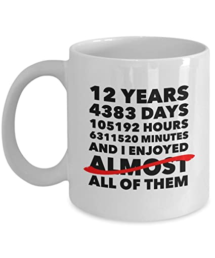 Amazon Funny 12th Anniversary Mug Silk Wedding Day 12 Years