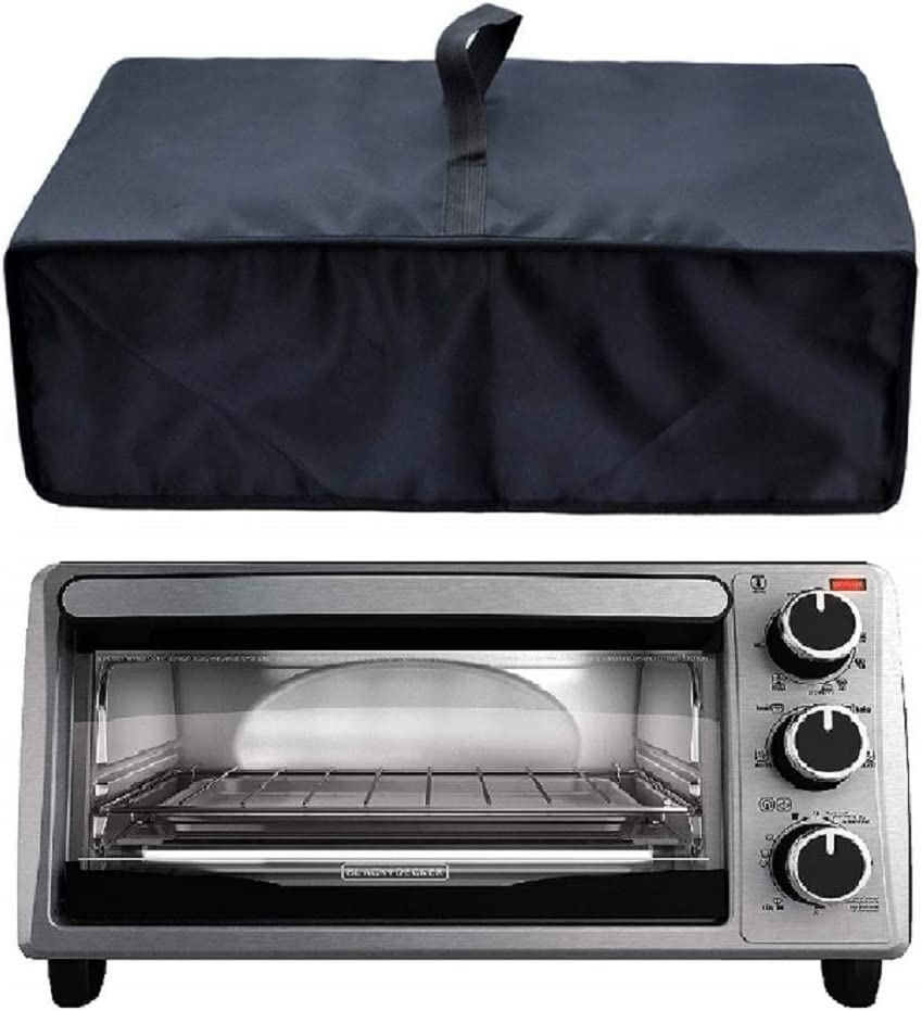 Heavy Duty Heat-Resistant Waterproof Dust-proof cover for BLACK 4-Slice Toaster Oven TO1303SB/TO1313SBD /Proctor Silex 31122 Modern Toaster Oven and other models
