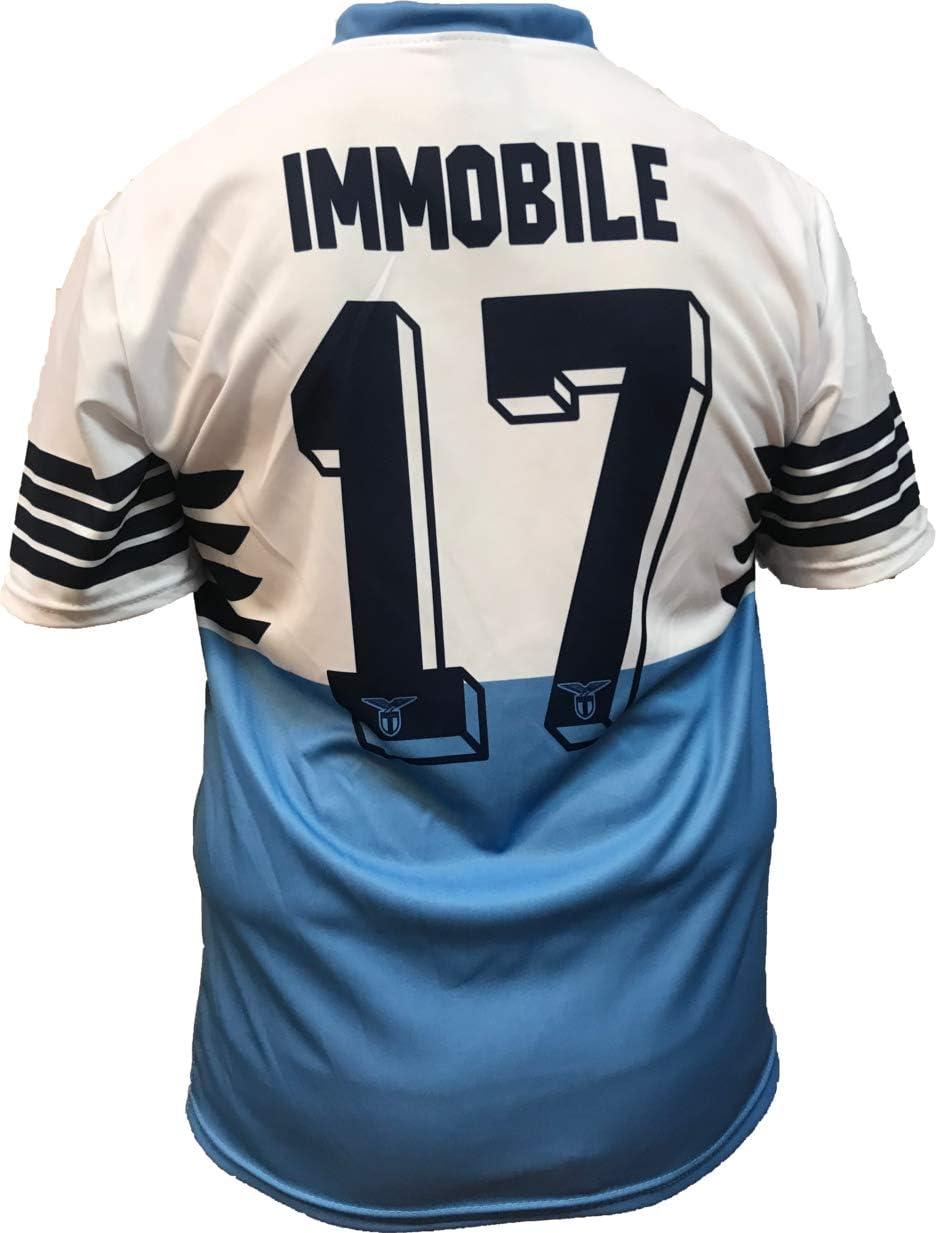 Camiseta Jersey Futbol S.S. Lazio Ciro Immobile Replica Oficial Autorizado 2018-2019 Niños (2,4,6,8,10,12 año) Adultos (Small, Medium, Large, Xlarge): Amazon.es: Deportes y aire libre
