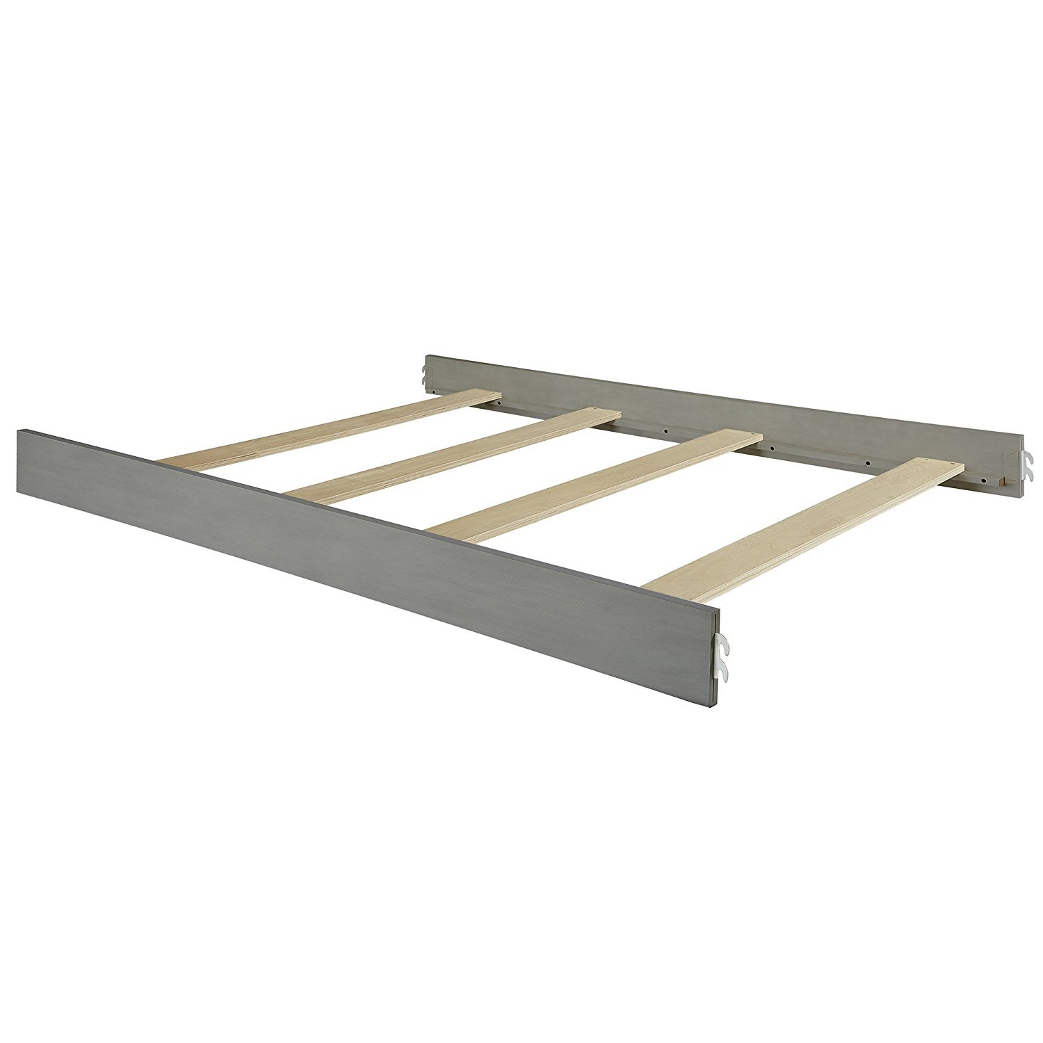 Full Size Conversion Kit Bed Rails for Ozlo Baby Cribs (Marble Gray)