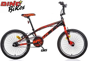 Bicicleta 20 BMX Aurelia nero-rosso Fluo: Amazon.es: Deportes y ...