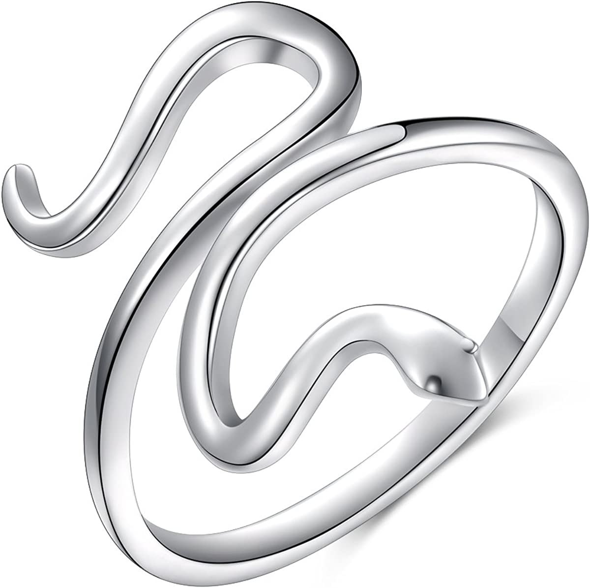 Stacking Boho Midi Ring Serpent Ring Adjustable Animal Wrap Snake Ring Snake Ring Sterling Silver Silver Animal Jewelry Boxed for Her