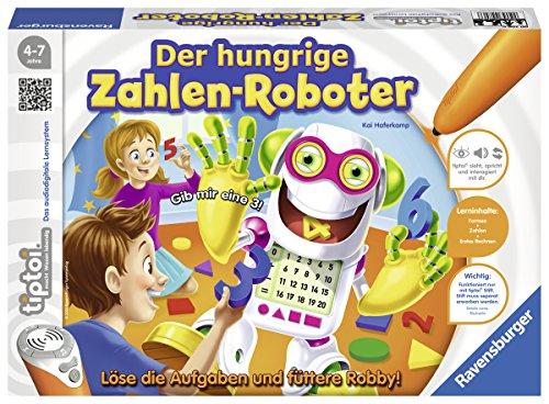 image Ravensburger 00706–tiptoi Jeu des chiffres Affamé de robot