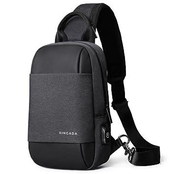 c8afc9140daf Amazon.com  XINCADA Sling Bag Messenger Bag Chest Pack Crossbody Shoulder  Bags Small Shoulder Backpack  XINCADA.Bag