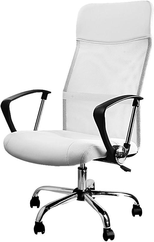 Deuba Silla de Oficina Blanca con Ruedas giratorias sillón ...