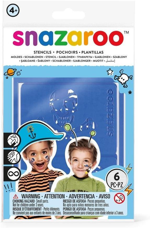 Snazaroo - Set de 6 plantillas de pintura facial, aventuras: Amazon.es: Juguetes y juegos