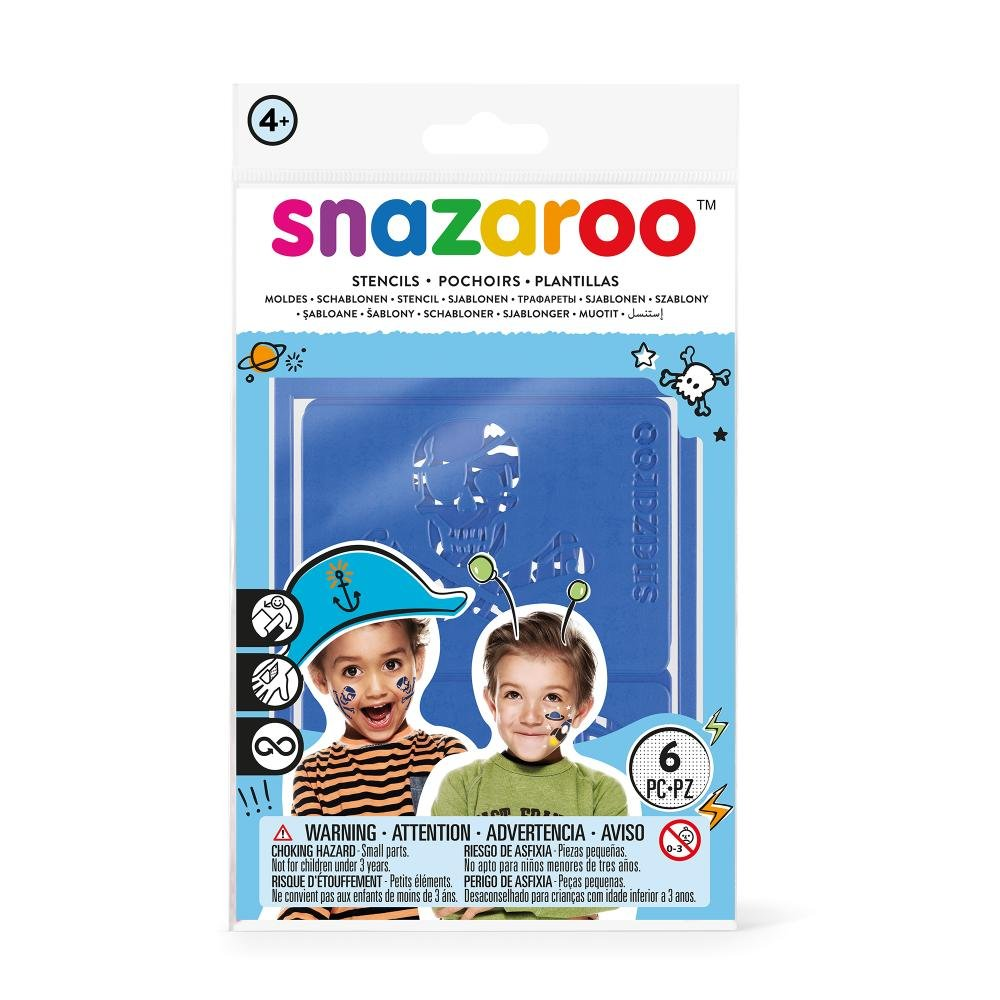 Amazon.com : Snazaroo 1198011 Face Paint Stencils - Boys Adventure, Set of 6 : Childrens Art Paints : Toys & Games
