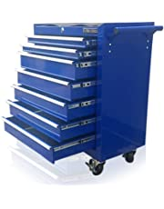 US PRO BLUE TOOLS AFFORDABLE STEEL CHEST TOOL BOX ROLLER CABINET 7 DRAWERS