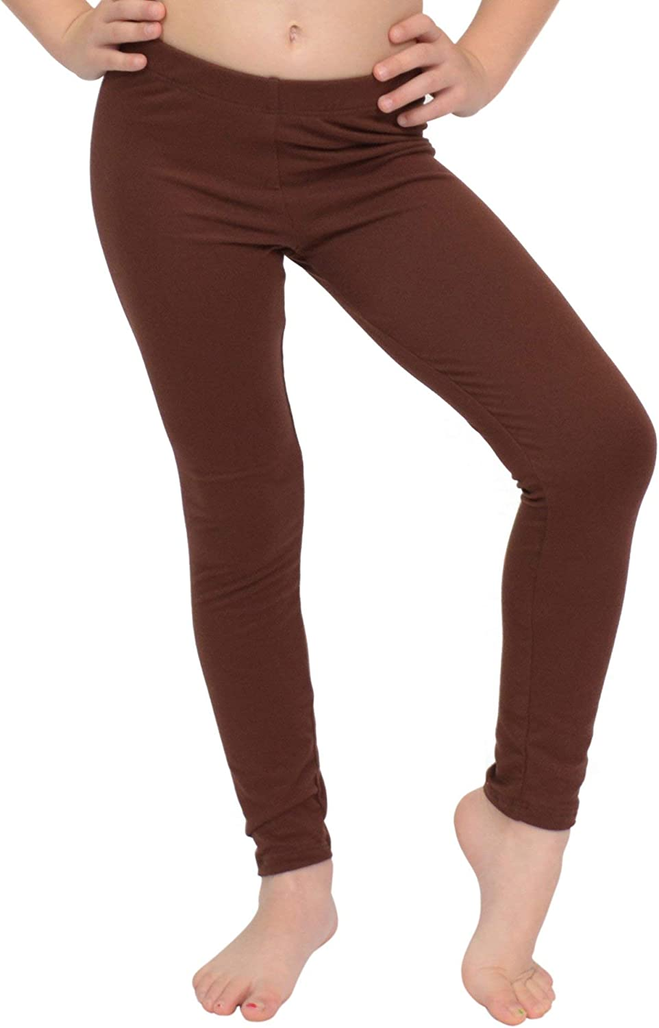 Stretch is Comfort Cotton Girl's and Women's Footless Leggings Made in The USA: Clothing