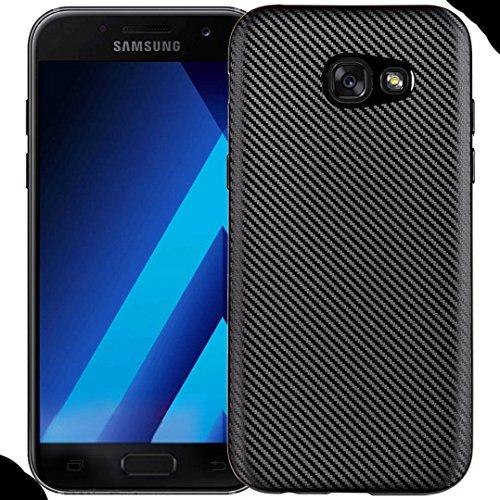 Galaxy 2016 A7 Soft Case, Awesome Carbon Fiber Twill Style Ultra Hybrid Thin Cover, WEIFA Cool Ultralight Slim Anti-Scratch Phone Case for Samsung Galaxy A710 Black