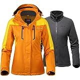 OutdoorMaster Womens 3-in-1 Ski Jacket - Winter Jacket Set with Fleece Liner