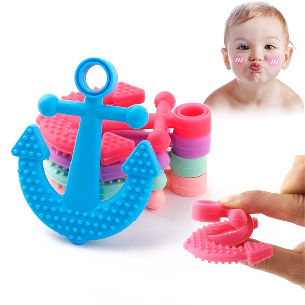 Mamimami Home Silikon Teether Kautabletten Silikon Perlen Anhänger BPA frei 5pc Krankenpflege Halskette Zahnen Zubehör Baby Teether Spielzeug