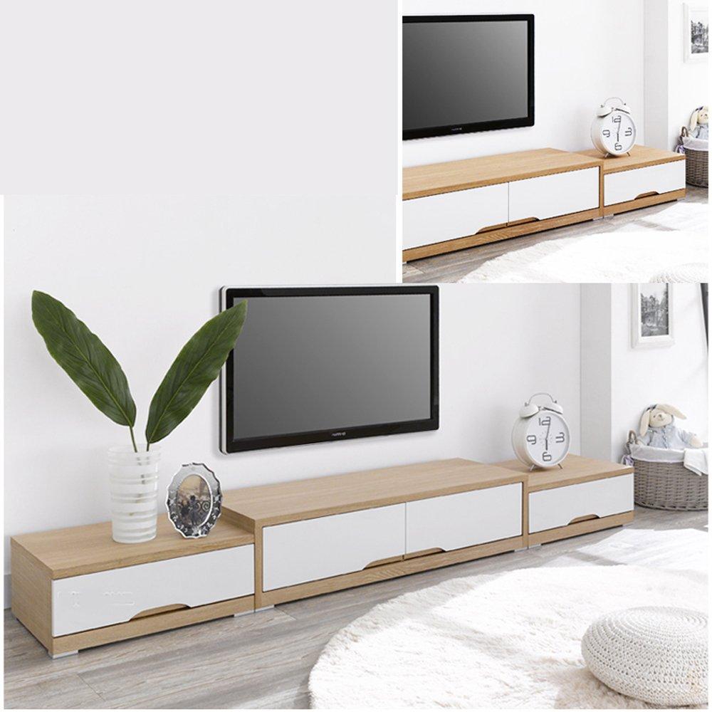 現代簡約電視柜 日韓潮流客廳試聽柜 板式時尚電視柜家具定制包郵 (淺