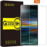 QULLOO Sony Xperia 10 Plus ガラスフィルム 2.5D 全面吸着 旭硝子素材 耐衝撃 硬度9H 高透過率 飛散防止 Xperia 10 Plus 保護フィルム