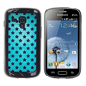 KOKO CASE / Samsung Galaxy S Duos S7562 / cielo azul estrellas universo wallpaper negro / Delgado Negro Plástico caso cubierta Shell Armor Funda Case Cover