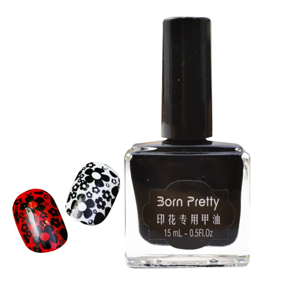 Born Pretty 15ml Nail Art Stamping Polish White Nail Polish 4#