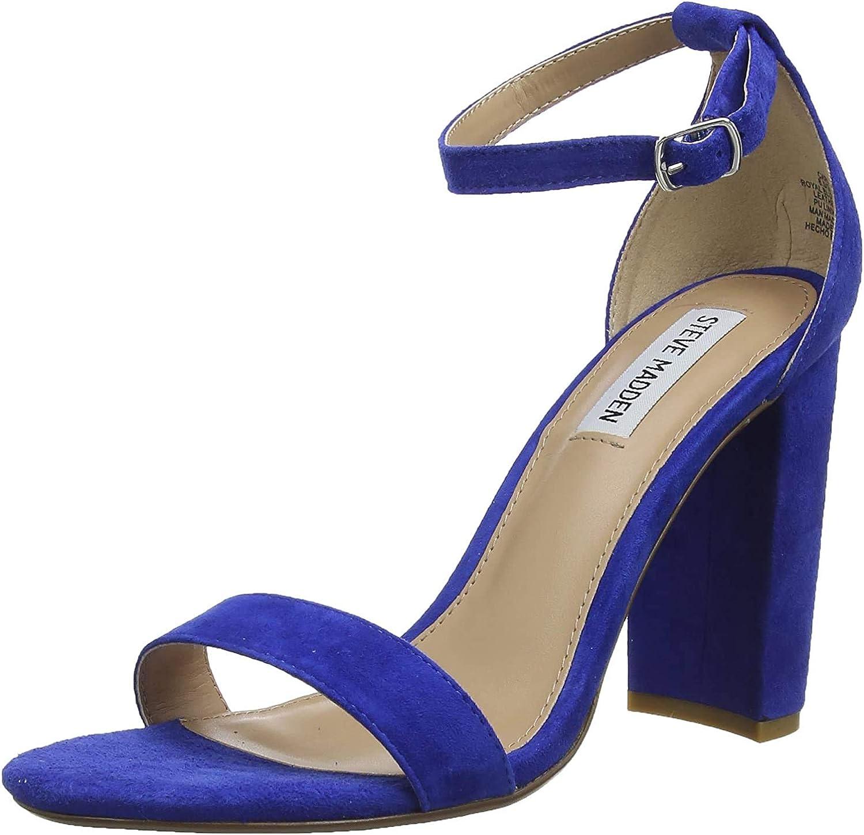 Steve Madden Carrson, Sandali con Cinturino alla Caviglia Donna Blu Royal Blue Suede 425
