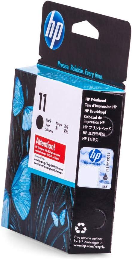 HP C4810A Cabezal de impresión Negro 11, páginas 24 K, 8 ml: Hp: Amazon.es: Electrónica