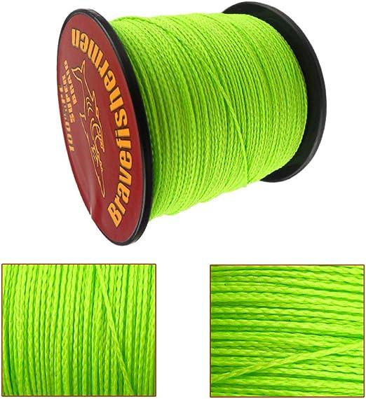 Green BraveFishermen 100//300//500//1000M 100/%PE Braid Fishing Line