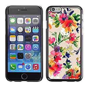 Pulsar Snap-on Series Teléfono Carcasa Funda Case Caso para Apple Iphone 6 Plus / 6S Plus ( 5.5 ) , Arte Floral Flores vibrante""