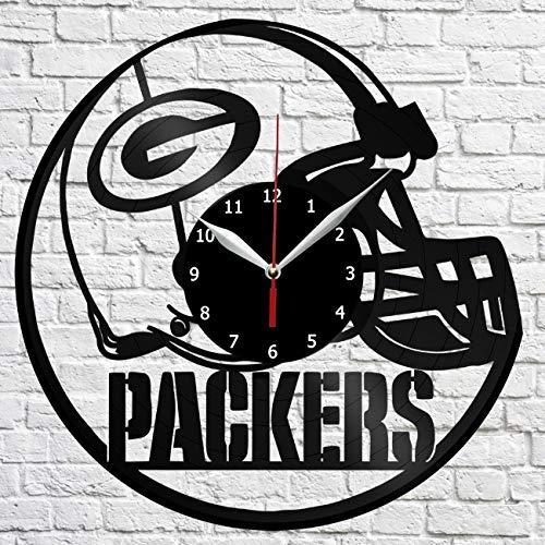 Nfl Green Bay Packers Vinyl Record Wall Clock Unique Design Handmade Decor Home Original Gift Idea Home Kitchen Home Decor