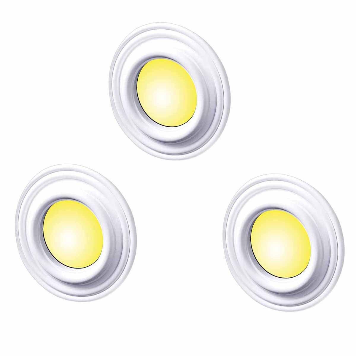 3 Spot Light Trim Medallions White Urethane 4'' ID Set Of 3