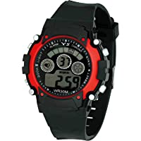 VITREND(R-TM) New Model Alarm Function Date/Week Display Good Looking Sports Digital LED 7 Different Colours Disply Watch For Boys& Girls(Red/Blue/Black/Green/Yellow/Orange Sent As Per Available Colour)