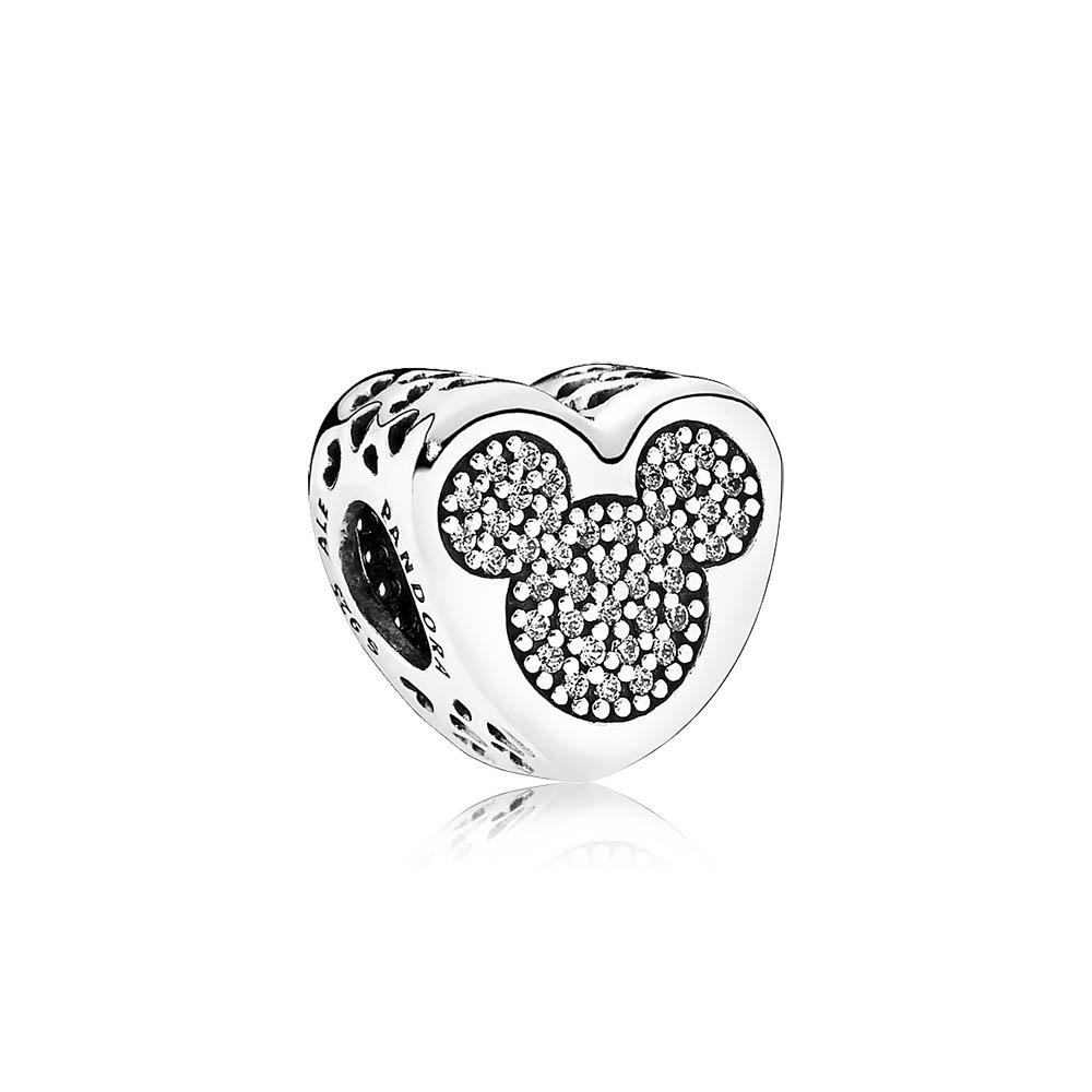 PANDORA Disney, Mickey & Minnie True Love Charm 792050CZ