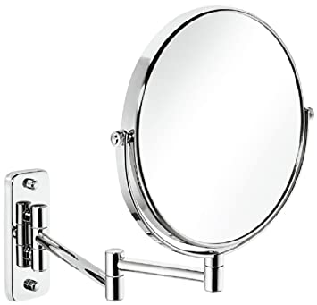 Kela Wand-Kosmetik-Spiegel Zum Schrauben Ausziehbar 1-//5-fach Vergrößerung